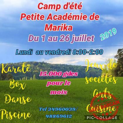 CAMP D'ÉTÉ PETITE ACADEMIE DE MARIKA
